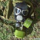 Militaria: ANTIGUA MÁSCARA DE GAS CON DOS BOTES Y BOLSA RUSIA USSR SIN USAR. Lote 161179910