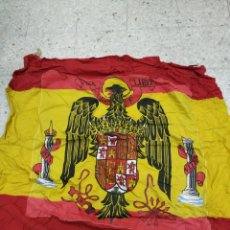 Militaria: BANDERA DE ESPAÑA DE CUARTEL ÁGUILA DE SAN JUAN DE ÉPOCA 2×2 M APROX. Lote 165379636
