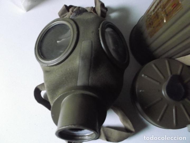 Militaria: Antigua mascara antigas con su bote, original, antigas, COMPLETA, MIRAR FOTOS - Foto 3 - 166995428