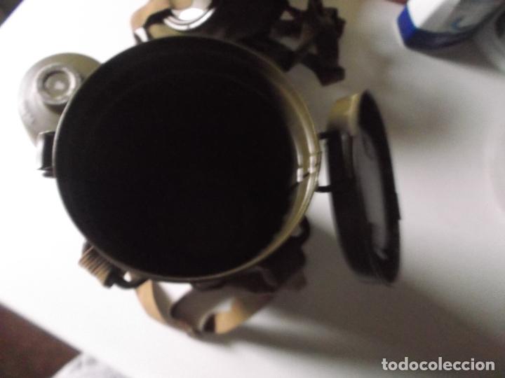 Militaria: Antigua mascara antigas con su bote, original, antigas, COMPLETA, MIRAR FOTOS - Foto 6 - 166995428