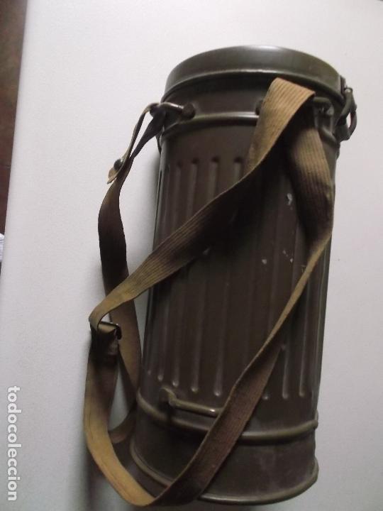 Militaria: Antigua mascara antigas con su bote, original, antigas, COMPLETA, MIRAR FOTOS - Foto 7 - 166995428