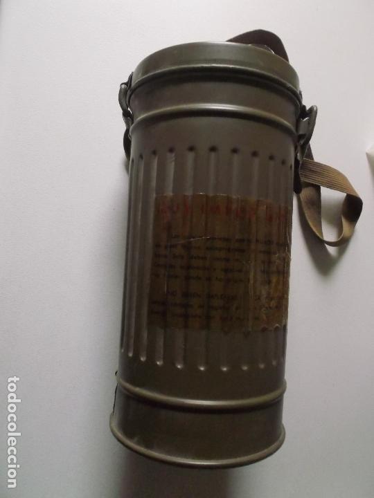 Militaria: Antigua mascara antigas con su bote, original, antigas, COMPLETA, MIRAR FOTOS - Foto 10 - 166995428
