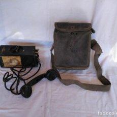 Militaria: TELÉFONO DE CAMPAÑA ITALIANO E E - 8 - B - I, CON SU BOLSA DE TRANSPORTE.. Lote 169675332