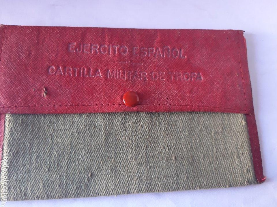 Militaria: Cartilla militar del año 1949 portadocumentos de tela y cuero - Foto 4 - 172172195