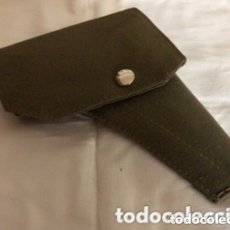 Militaria: FUNDA ANTIGUA DE LONA VERDE PARA PISTOLA.. Lote 174229417