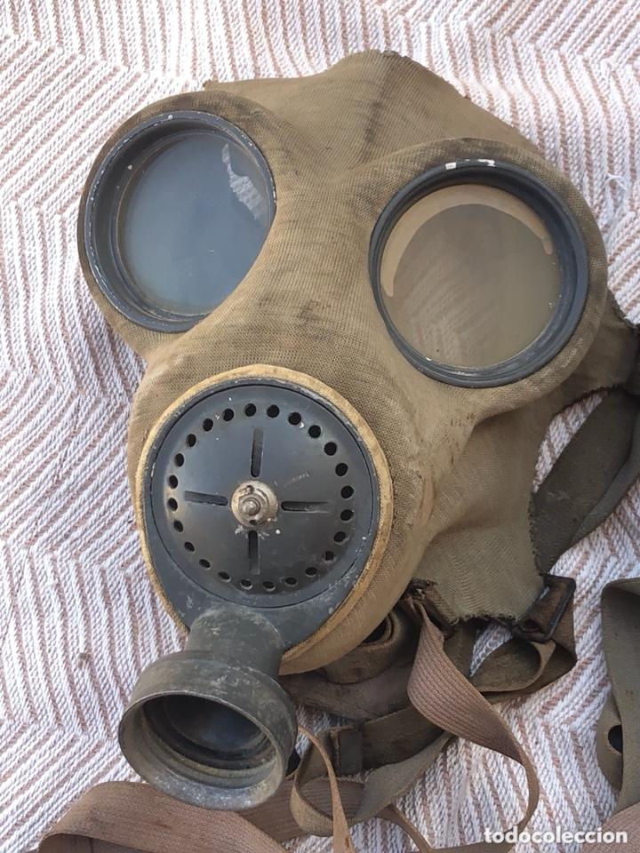 Militaria: Lote de 2 máscaras antigas antiguas - Foto 2 - 228339540