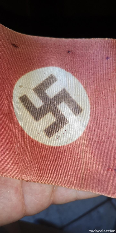 Militaria: Antigua bandera tipo despacho del Tercer Reich - Foto 2 - 175406314