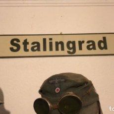 Militaria: PLACA DE CARRETERAS DE STALINGRADO TAMAÑO ORIGINAL . Lote 176048028