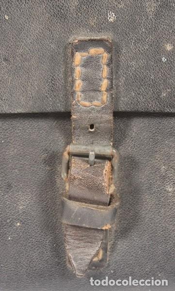 Militaria: Porta planos (Meldekartentasche) – porta partituras, original alemán Segunda Guerra Mundial. - Foto 2 - 176606629