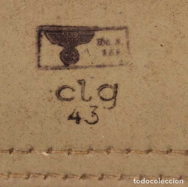 Militaria: Porta planos (Meldekartentasche) – porta partituras, original alemán Segunda Guerra Mundial. - Foto 7 - 176606629