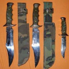 Militaria: TRES CUCHILLOS DE COMBATE. Lote 178895797
