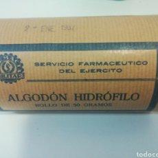 Militaria: ALGODÓN HIDROFOLICO SERVICIO FARMACÉUTICO DEL EJÉRCITO 1967. Lote 180231480