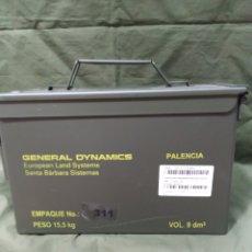 Militaria: CAJA METÁLICA VERDE VACÍA DE MUNICIÓN 30×15×18 CMS NUEVA. Lote 181341955