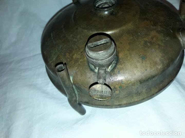 Militaria: Magnifica pieza de colección deposito de cocina Primus gasolina de bronce nº 488 años 50 Sweden - Foto 8 - 182736598
