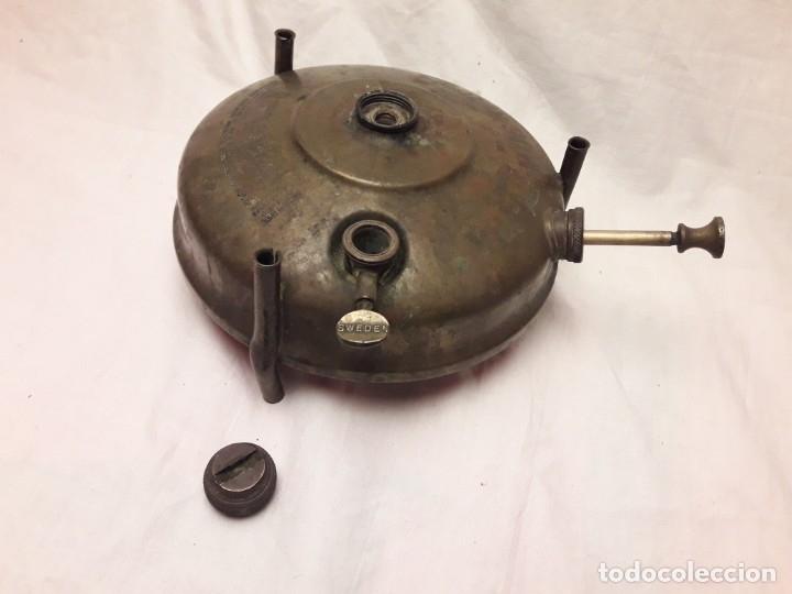 Militaria: Magnifica pieza de colección deposito de cocina Primus gasolina de bronce nº 488 años 50 Sweden - Foto 16 - 182736598