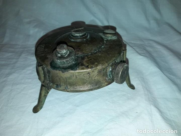 Militaria: Magnifica pieza de colección deposito gasolina de cocina quemador J Viñals años 50 España - Foto 3 - 182736756