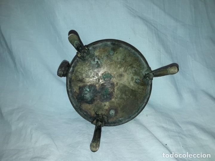 Militaria: Magnifica pieza de colección deposito gasolina de cocina quemador J Viñals años 50 España - Foto 4 - 182736756