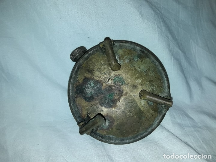 Militaria: Magnifica pieza de colección deposito gasolina de cocina quemador J Viñals años 50 España - Foto 5 - 182736756