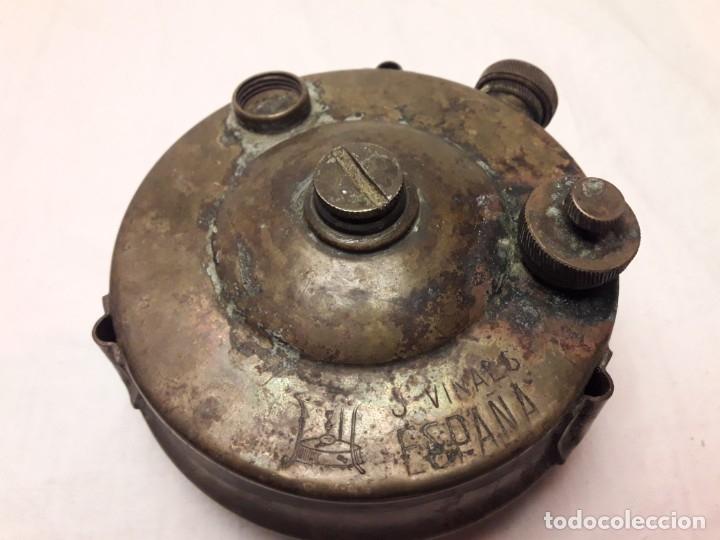 Militaria: Magnifica pieza de colección deposito gasolina de cocina quemador J Viñals años 50 España - Foto 6 - 182736756