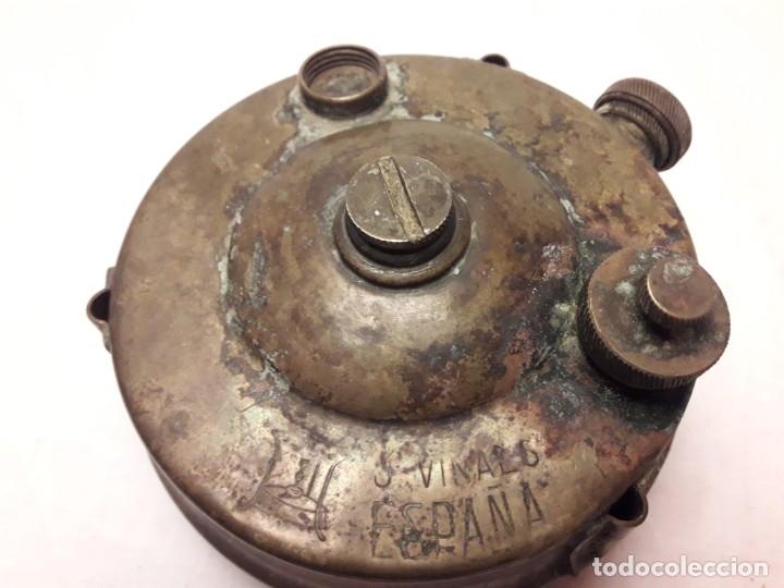 Militaria: Magnifica pieza de colección deposito gasolina de cocina quemador J Viñals años 50 España - Foto 7 - 182736756