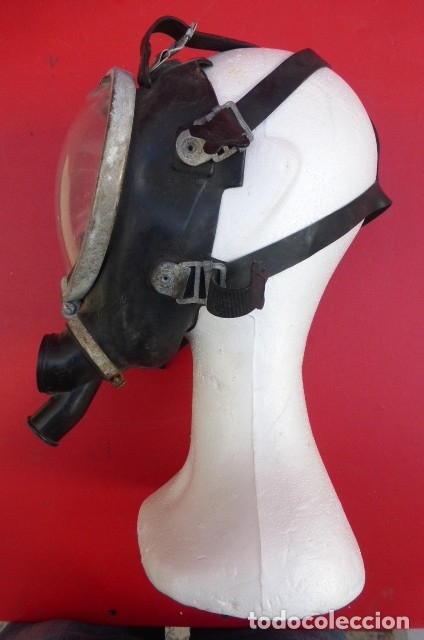 Militaria: Mascara facial respiratoria Nemrod...equipo contraincendios..Años 80.Original Nemrod-usada. - Foto 2 - 183277250