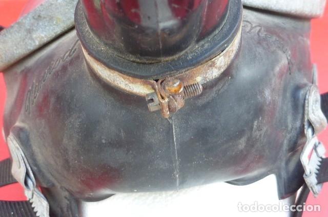 Militaria: Mascara facial respiratoria Nemrod...equipo contraincendios..Años 80.Original Nemrod-usada. - Foto 6 - 183277250