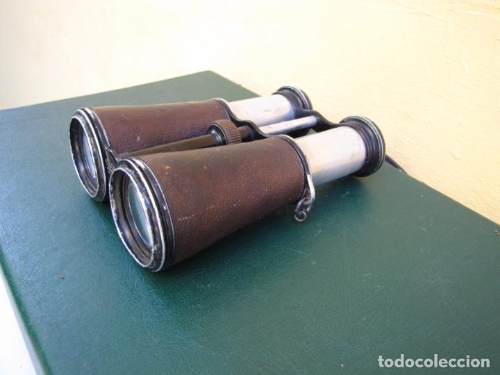 Militaria: Raros prismáticos de campaña oficial. Iniciales grabadas. Jema Special - Foto 4 - 183294622