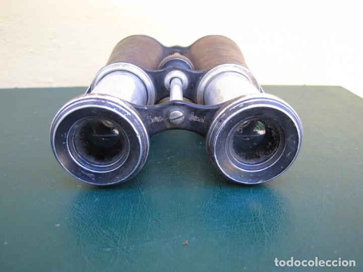 Militaria: Raros prismáticos de campaña oficial. Iniciales grabadas. Jema Special - Foto 5 - 183294622