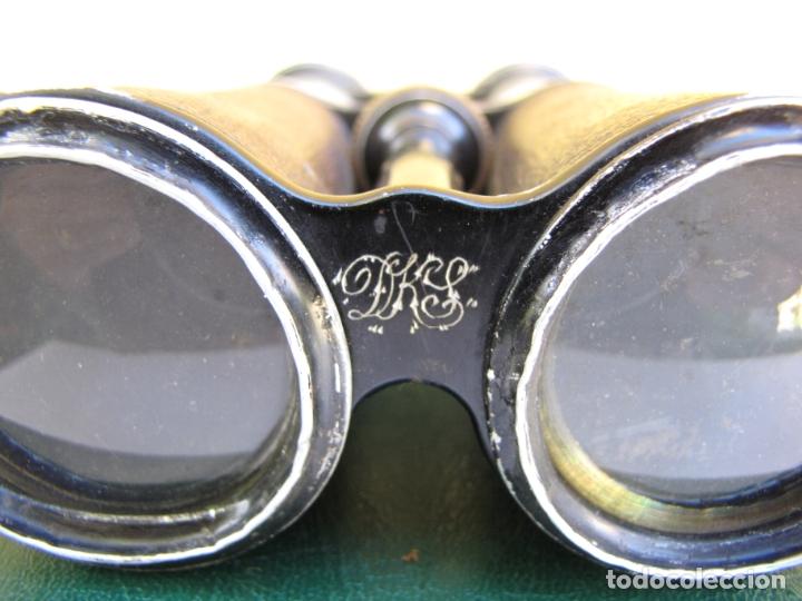 Militaria: Raros prismáticos de campaña oficial. Iniciales grabadas. Jema Special - Foto 7 - 183294622