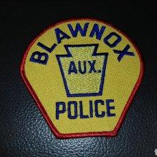 Militaria: PARCHE POLICÍA BLAWNOX AUX POLICE EN EXCELENTE ESTADO. Lote 183629577