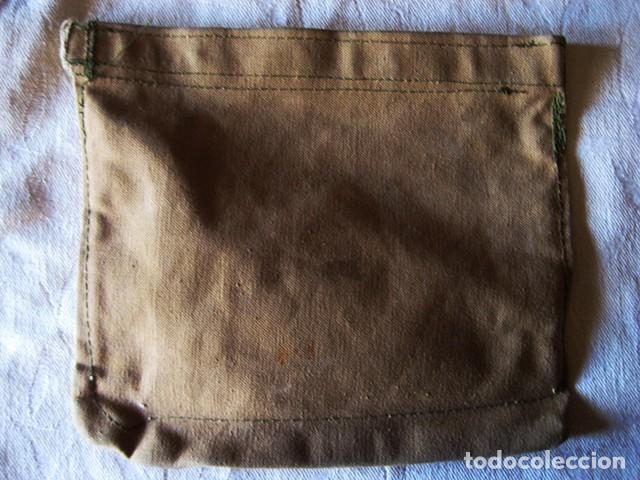 Militaria: Carpeta porta-documentos militar en loneta, color garbanzo (Regulares). Años 70. Época de Franco - Foto 3 - 183739932