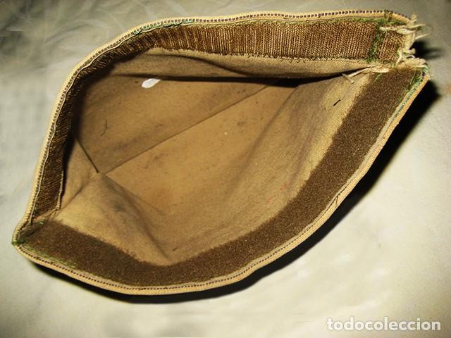Militaria: Carpeta porta-documentos militar en loneta, color garbanzo (Regulares). Años 70. Época de Franco - Foto 4 - 183739932