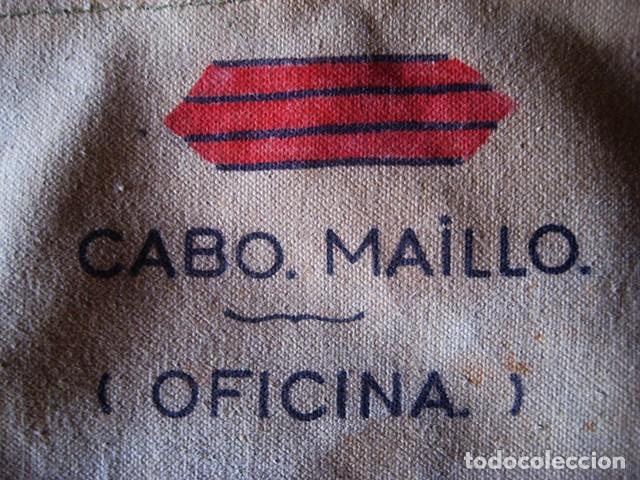 Militaria: Carpeta porta-documentos militar en loneta, color 'garbanzo' (Regulares). Años 70. Época de Franco - Foto 5 - 183739932
