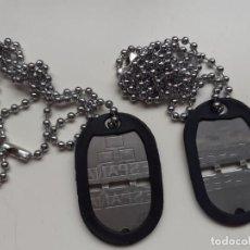 Militaria: CHAPAS DE IDENTIDAD EJÉRCITO ESPAÑOL. Lote 210155748