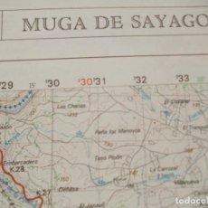 Militaria: CARTOGRAFIA MILITAR DE ESPAÑA ESCALA 1:50.000 USADO MUGA DE SAYAGO. Lote 184020632