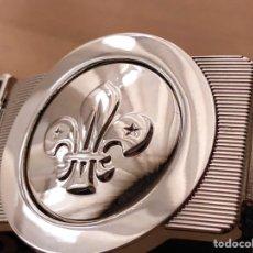 Militaria: CINTURÓN SCOUT OFICIAL - CORREA Y HEBILLA UNIFORME. Lote 184407575