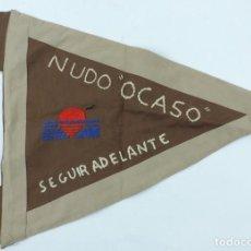 Militaria: BANDERIN TIPO GUION DE GRAN TAMAÑO DE LOS BOY SCOUT, BOY SCOUTS, NUDO OCASO, SEGUIR ADELANTE, RED FE. Lote 186692230