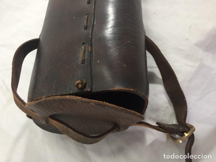 Militaria: Funda estuche para bandera de cuero finales siglo XIX vexilología buen estado raro - Foto 2 - 187159590
