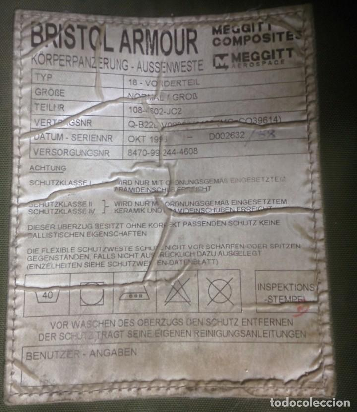 Militaria: Armadura corporal Bristol DPM original Uk - Foto 3 - 287790678
