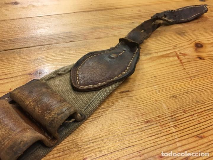 Militaria: Antiguo cinturón canana militar para cartuchos de pólvora - Tela y cuero caza - Foto 9 - 189428910