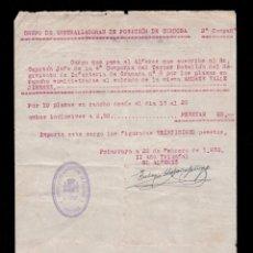 Militaria: *** GRUPO DE AMETRALLADORAS POSICIÓN CÓRDOBA 2 COMP. 10 PLAZAS EN RANCHO. PEÑARROYA 1938 ***. Lote 191250158