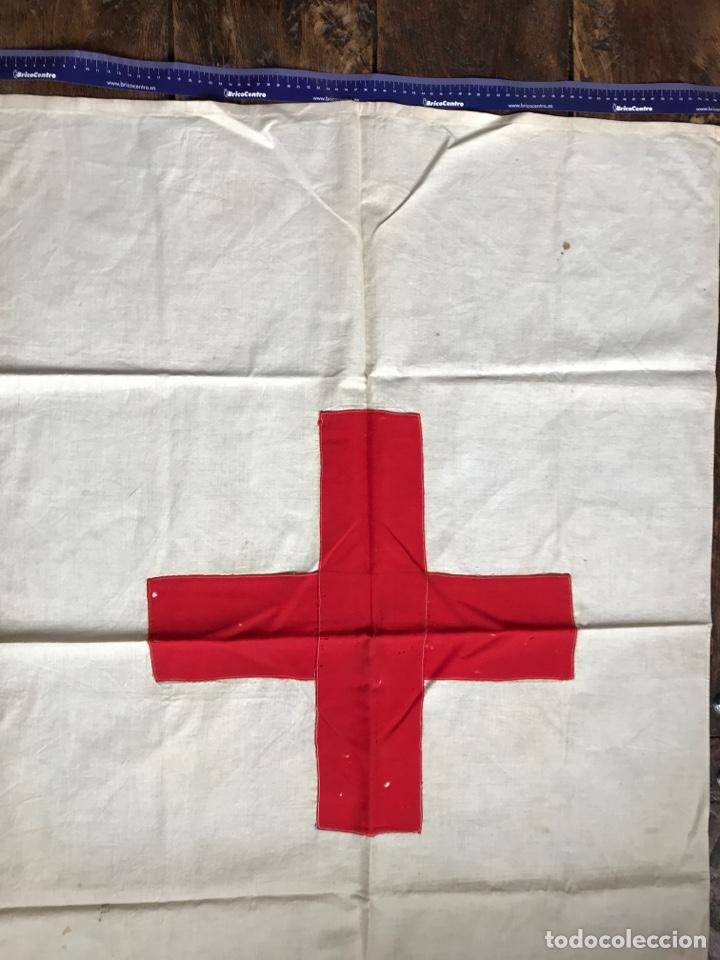 Militaria: Antigua bandera De la Cruz roja - Foto 4 - 191586736