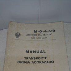 Militaria: MANUAL TRANSPORTE ORUGA ACORAZADO. Lote 194882555