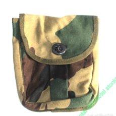 Militaria: BOLSA ALEMANA LONA GRANDE 20X18 CMS + LINTERNA LED DINAMO 131734 C. Lote 195289332