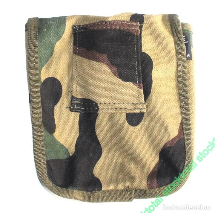 Militaria: BOLSA ALEMANA LONA GRANDE 20x18 cms + linterna led dinamo 131734 C - Foto 2 - 195289332