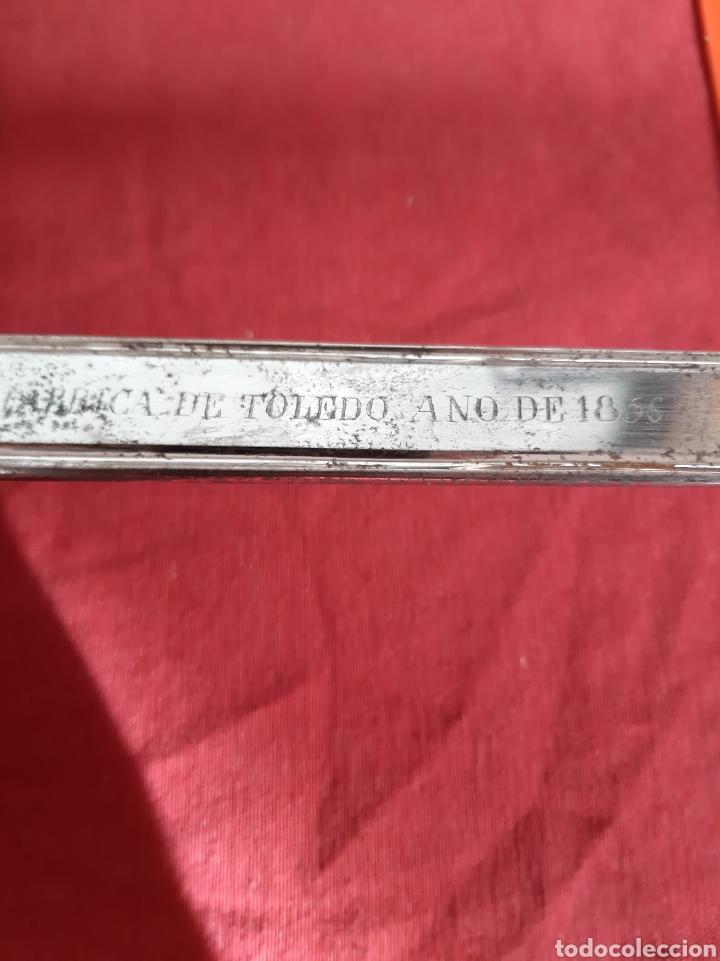 Militaria: 1856 Fabrica Toledo espada a antigua buen estado con funda original - Foto 5 - 195606732