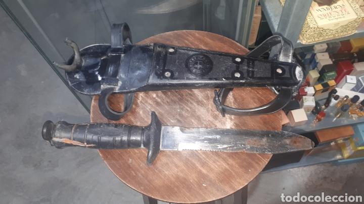 CUCHILLO MACHETE BUZO BUCEADOR NEMROD MADE IN SPAIN INOX (Militar - Equipamiento de Campaña)