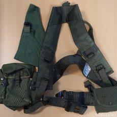 Militaria: CORREAJE VERDE COMPLETO EJERCITO ESPAÑOL. Lote 211401420