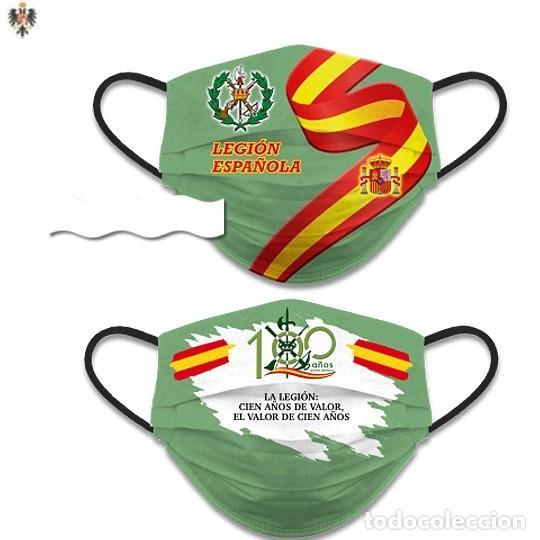 MASCARILLA FACIAL LEGIÓN ESPAÑOLA REVERSIBLE ** LOTE DE DOS PIEZAS (Militar - Equipamiento de Campaña)