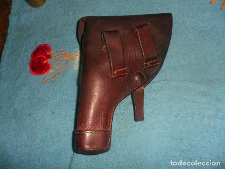 Militaria: funda pistola de cuero - Foto 2 - 207614721